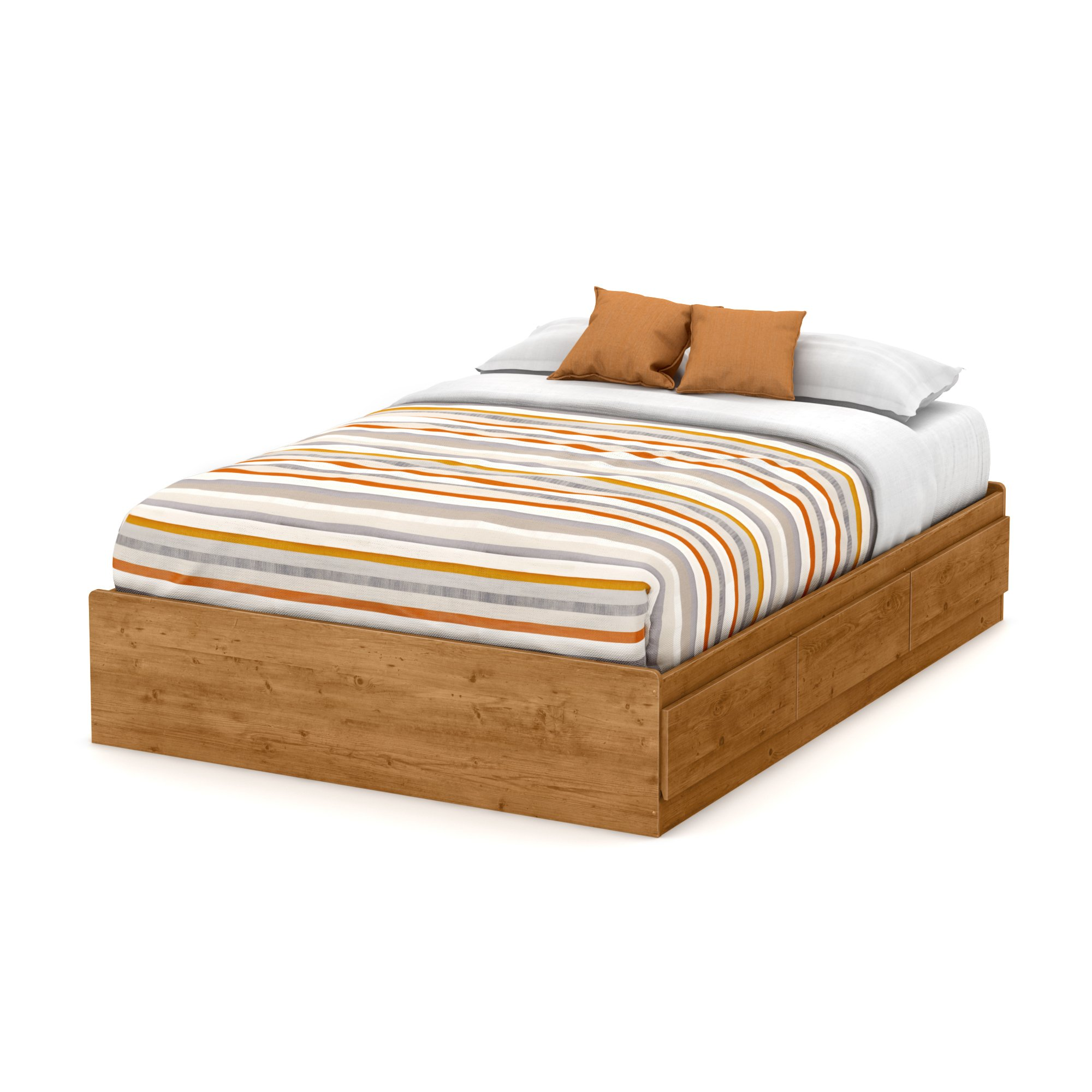 South Shore Little Treasures Full Mates Bed with 3 Drawers, 54-Inch, Country Pine
