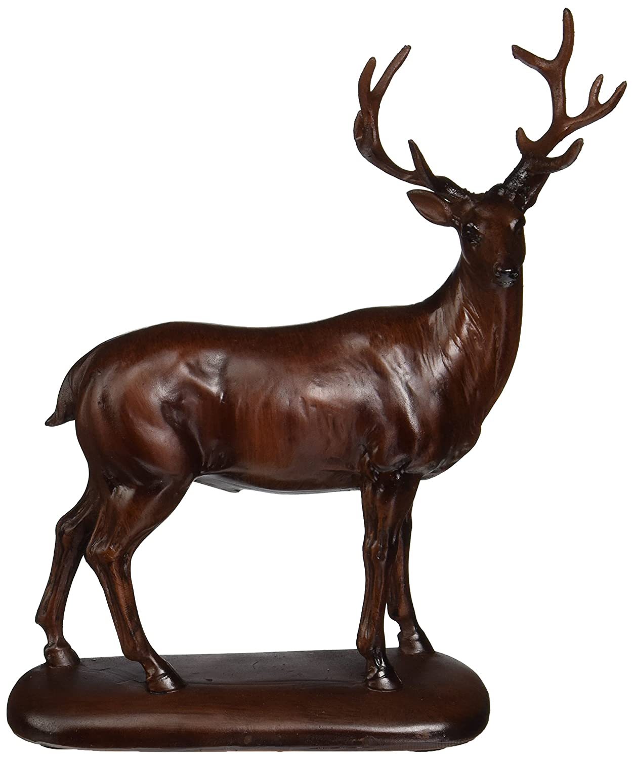 StealStreet SS-UG-PY-2825 Faux Wood Peaceful Deer Sculpture Model Figure Figurine Statue Decor