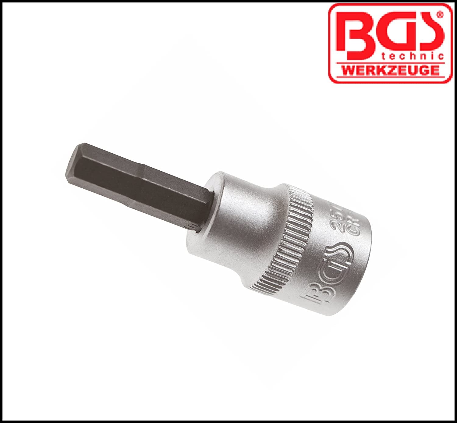 Pro Range 5 mm Internal Hex Bit Socket BGS-2578 3//8 Allen Key BGS