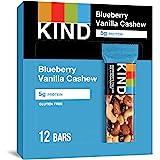 KIND Bars, Blueberry Vanilla & Cashew, Gluten Free, Low Sugar, 1.4oz, 12 Count