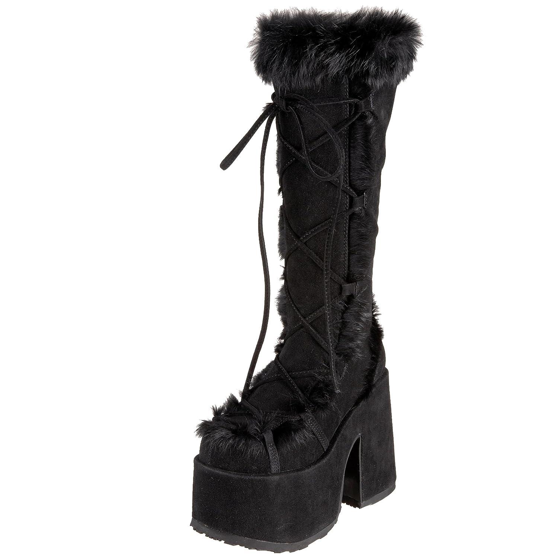 Pleaser Demonia By Women's Camel-311 Boot B0013JOUZS 9 B(M) US|Black Imitation Suede