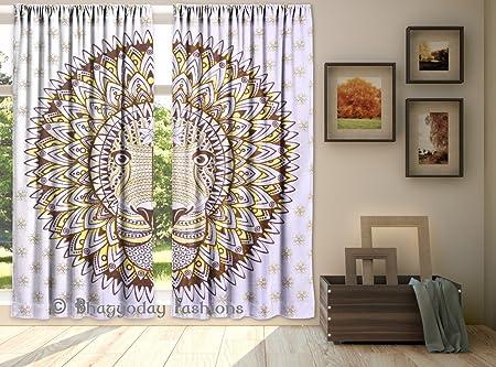 Indian Mandala  Hippie Curtain Tapestry Wall Hanging Bohemian Door Room Valances