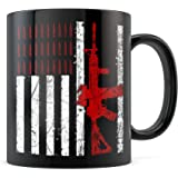 AR-15 American Flag Assault Rifle 2nd Amendment Coffee Mug