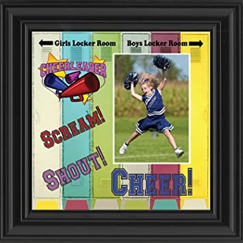 Amazon.com - Personalized Cheerleading Picture Frame, Cheerleader ...