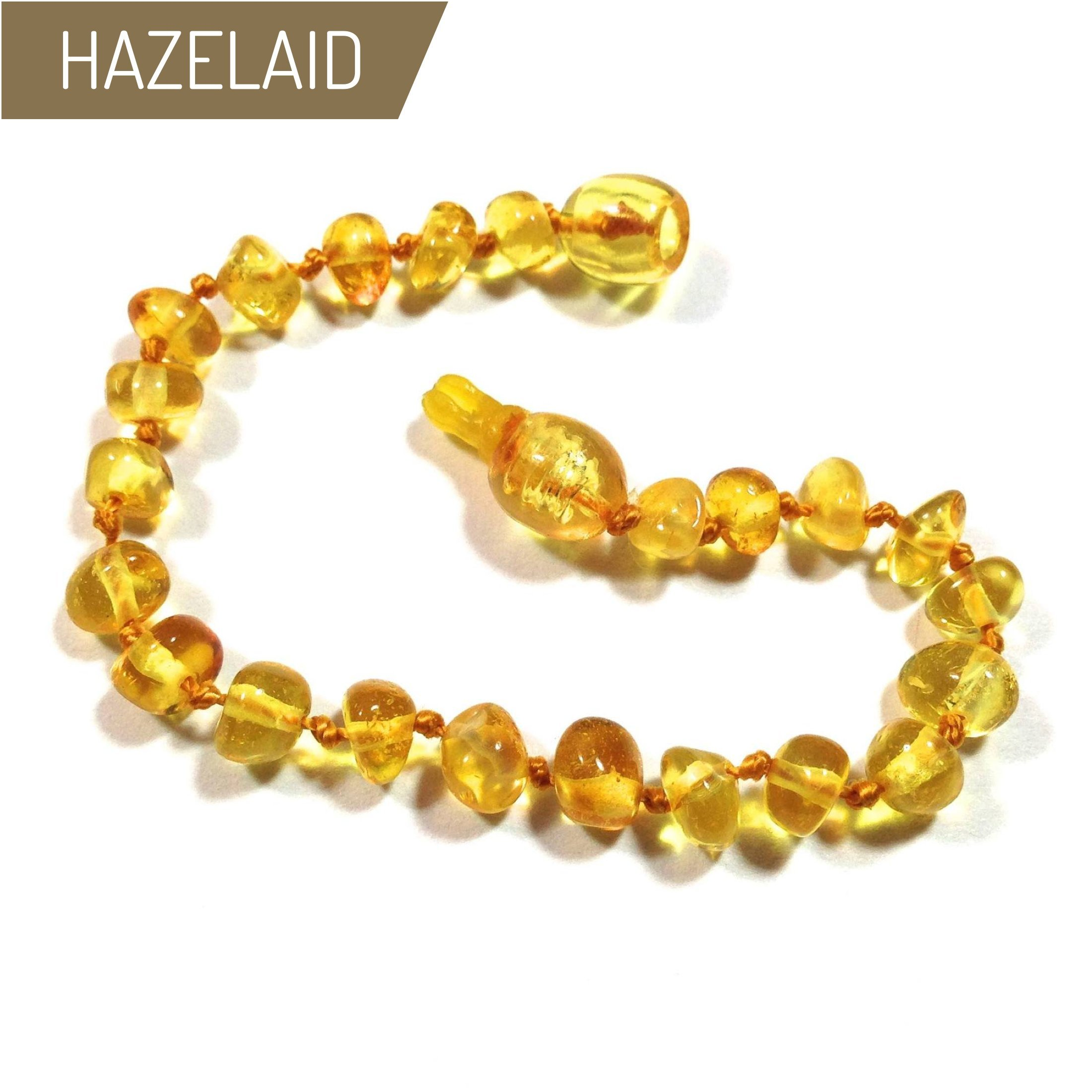 Hazelaid (TM) 5.5'' Pop-Clasp Baltic Amber Lemon Bracelet