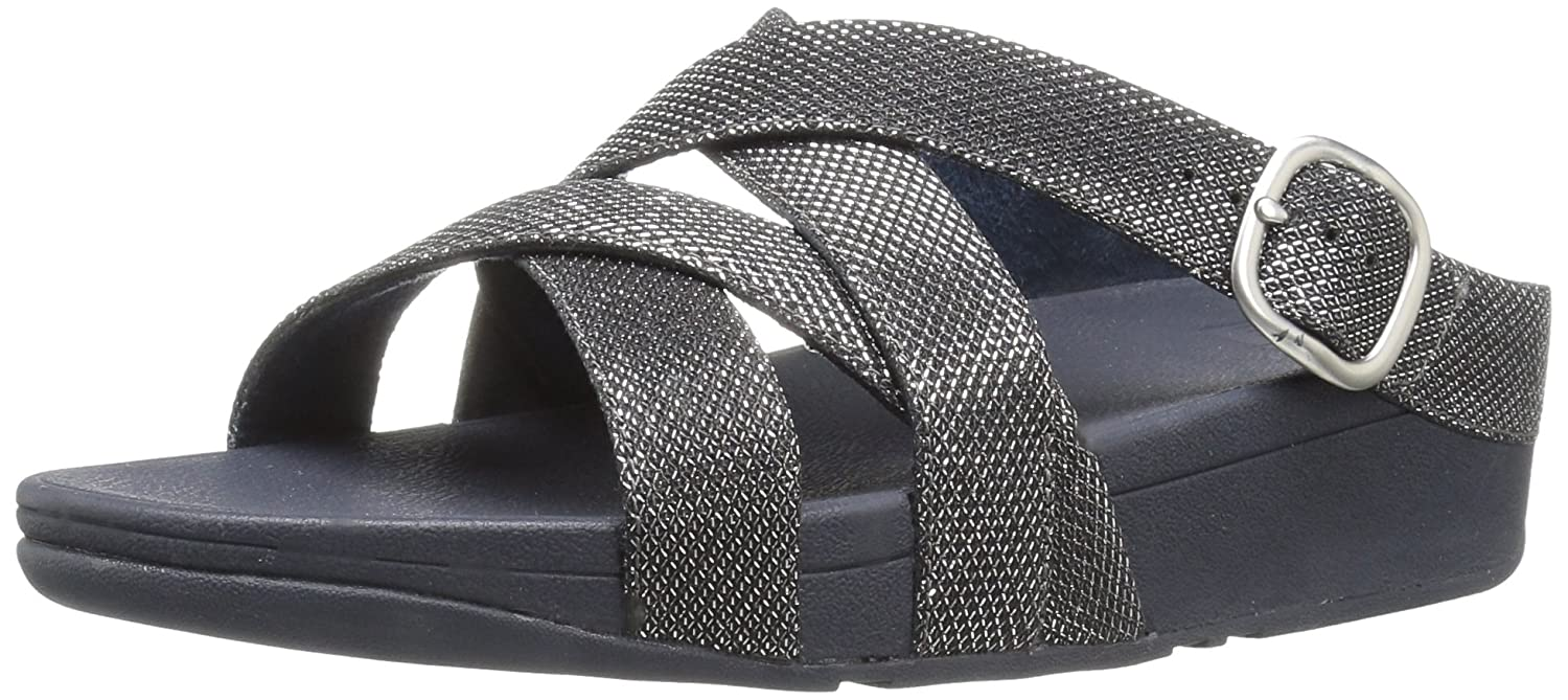 70cabaa8a Fitflop Women's The Skinny Sparkle Criss-Cross Slide Flip Flop:  Amazon.co.uk: Shoes & Bags