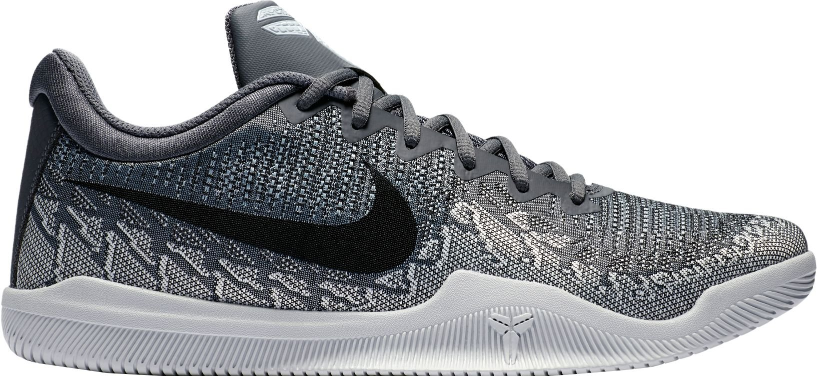 c858b41a0a00ae Galleon - Nike Men s Mamba Rage Basketball Shoes Dark Grey Black Pure  Platinum White Size 9 M US