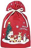 インディゴ クリスマス ラッピング袋 グリーティングバッグ4L ワンダーランド レッド XG158
