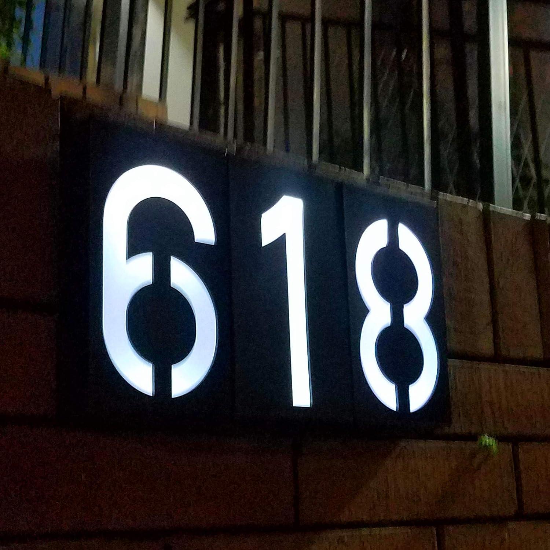 Solar Beleuchtete Hausnummer Wasserdicht Solarhausnummer Aussen KEEDA Solar Hausnummerleuchte