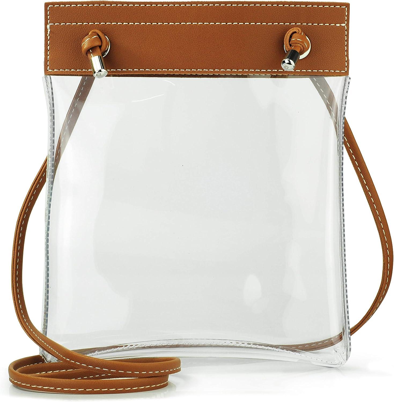 Clear Flat Cross Body Bag...