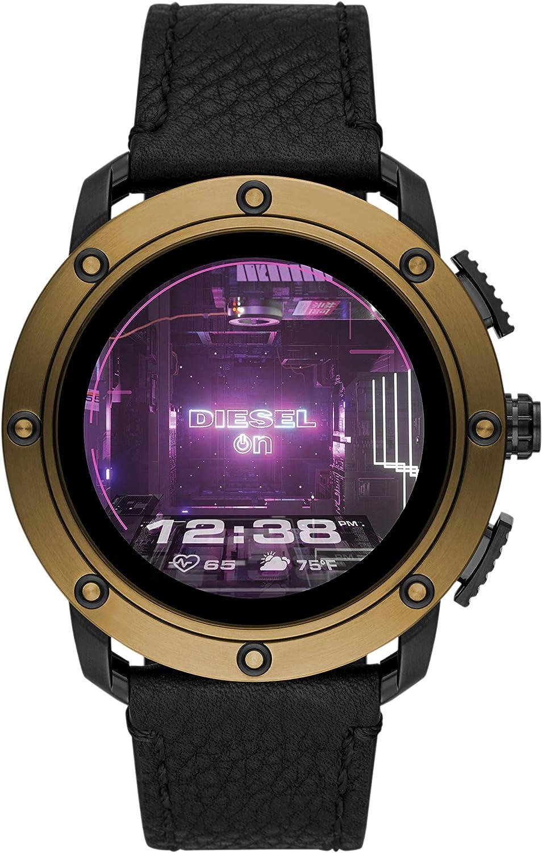 Diesel Smartwatch Pantalla táctil para Hombre de Connected con Correa en Piel DZT2016