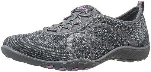 a5ff17591980b0 Skechers Women s Breathe-Easy - FORTUNEKNIT Shoes Grey  Skechers ...