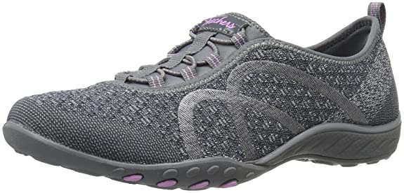 Skechers 22499, Damen Sneakers, Grau - Charcoal Knit - Größe: 41 EU (M)