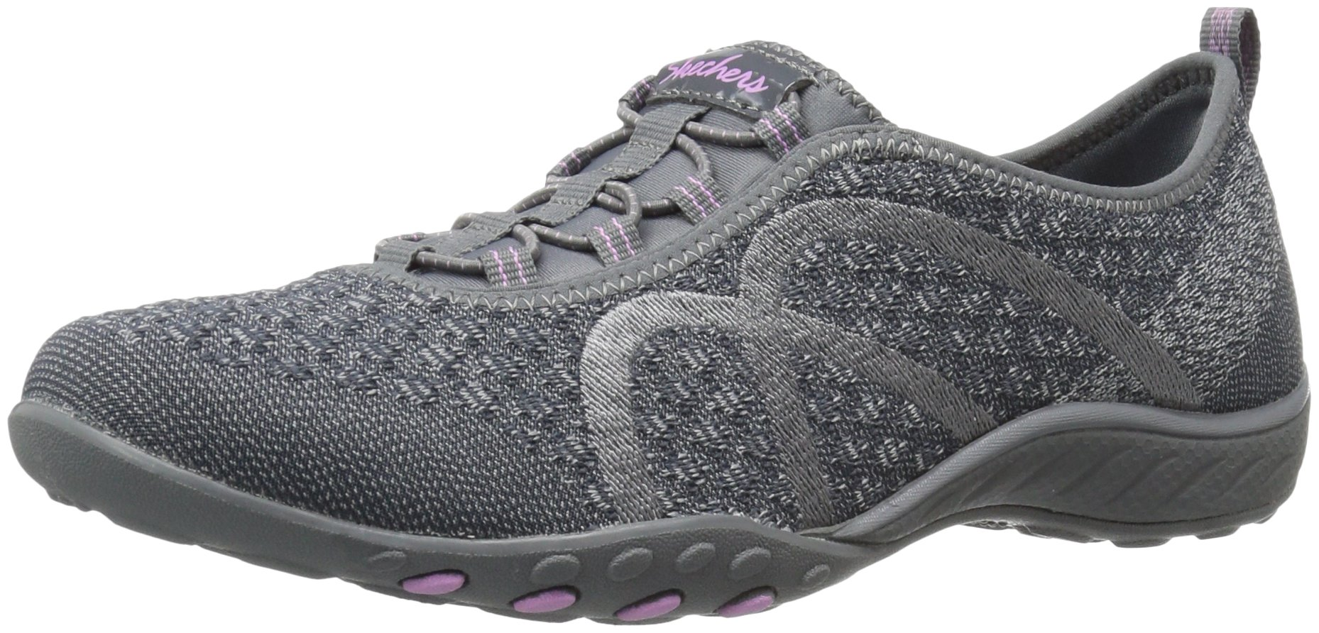 Skechers Sport Women's Breathe Easy Fortune Fashion Sneaker,Charcoal Knit,5.5 M US