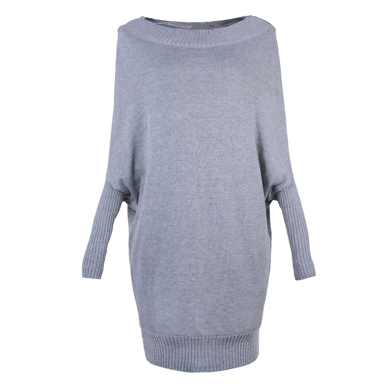 4b173aaacbe6b ASSKDAN Femme Sexy Pull Robe Six Couleur Manche Longue Oversize Sweater  Automne Hiver