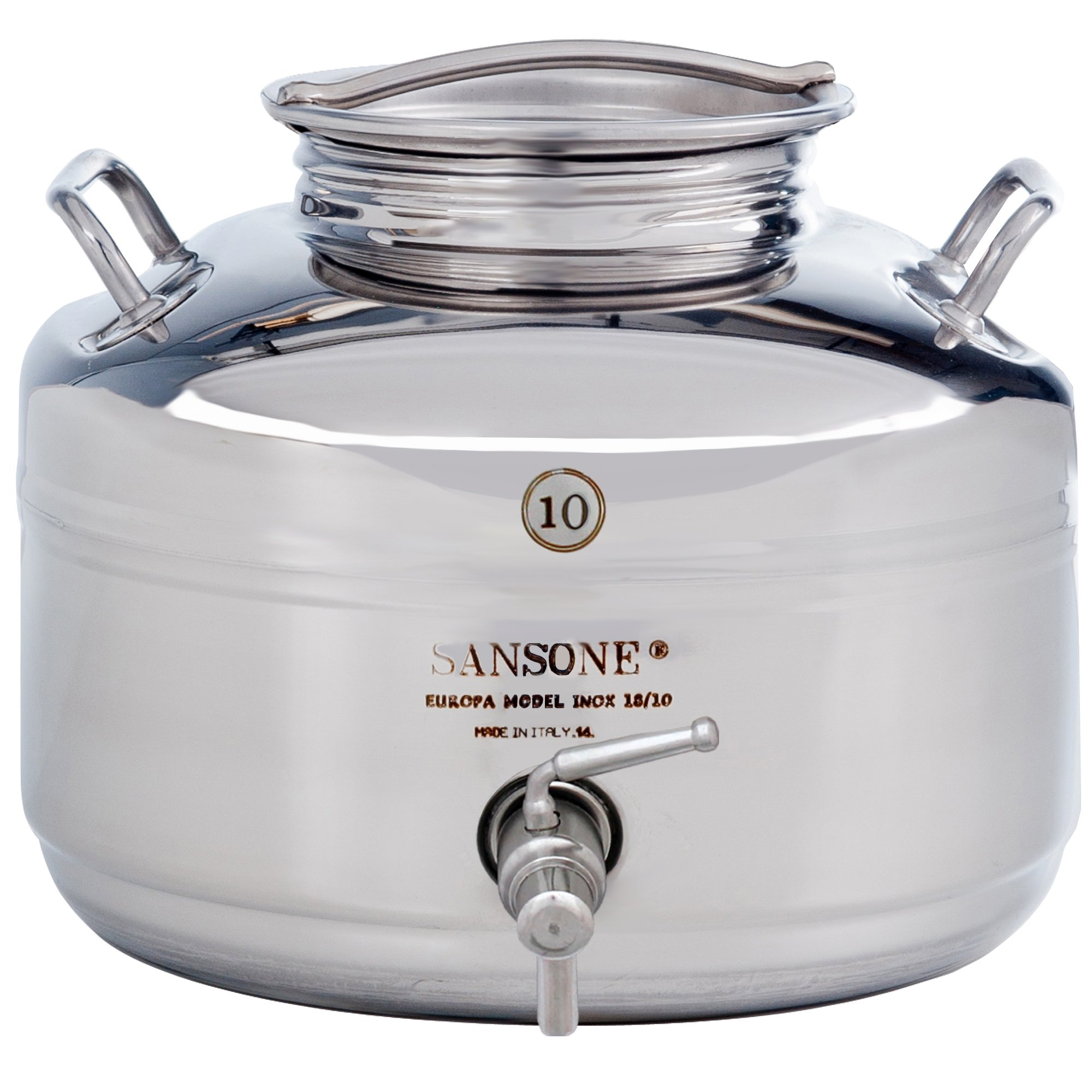 Sansone Stainless Steel Stand for 5 L Fusti Silver