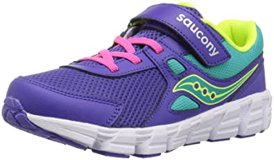 4105889ae Saucony Girls' Vortex A/C Sneaker, Purple, 1 Extra Wide US Little