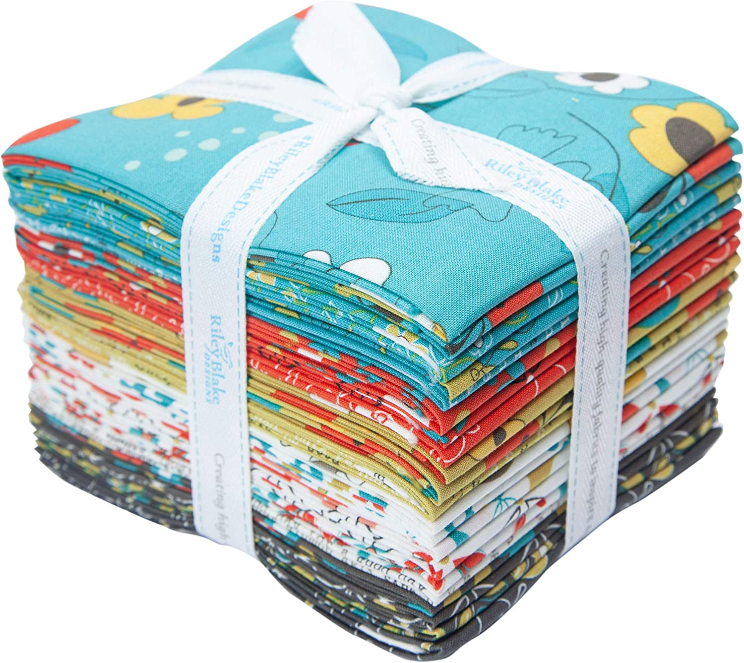 Sandy Gervais On The Bright Side 21 Fat Quarters Riley Blake Designs FQ-9430-21