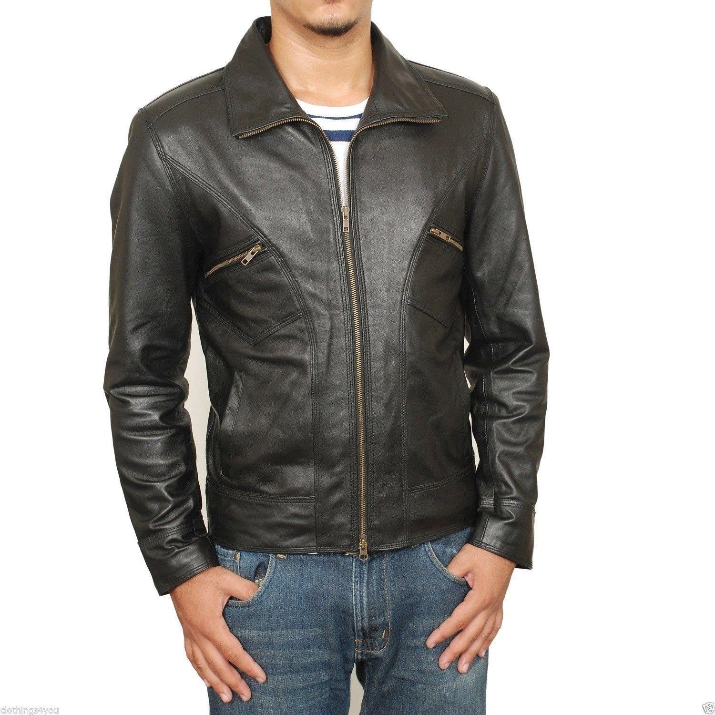 Laverapelle Men's Lamb skin Real Leather Jacket Black - 1510123
