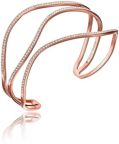 Michael Kors Wonder Lust Rose Gold-Tone Open Statement Cuff Bangle Bracelet