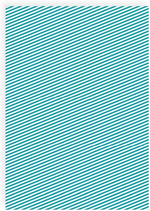 Flex pantalla diagonal rayas turquesa blanco – Din A4 arco – Pantalla para plotter – Plancha pantalla: Amazon.es: Hogar