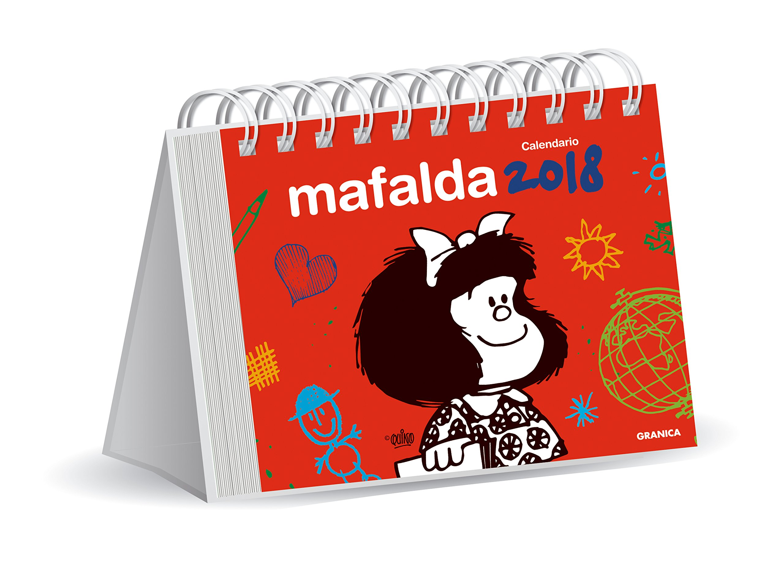 Mafalda 2018 Calendario de escritorio - Rojo (Spanish ...