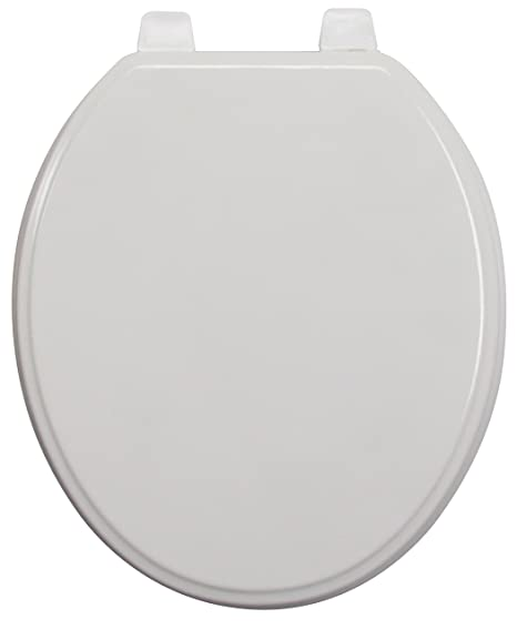 Excellent Ginsey Standard Wood Toilet Seat With Plastic Hinges White Camellatalisay Diy Chair Ideas Camellatalisaycom