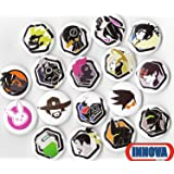 """OVERWATCH BUTTON PACK (6 RANDOM BUTTONS) 1"""" INCH PIN BACK TRACER REAPER VIDEO GAMES"""