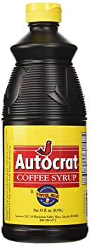 Autocrat Compact Bottle Caramel Color And Full Corn Sweetener Coffee Syrup