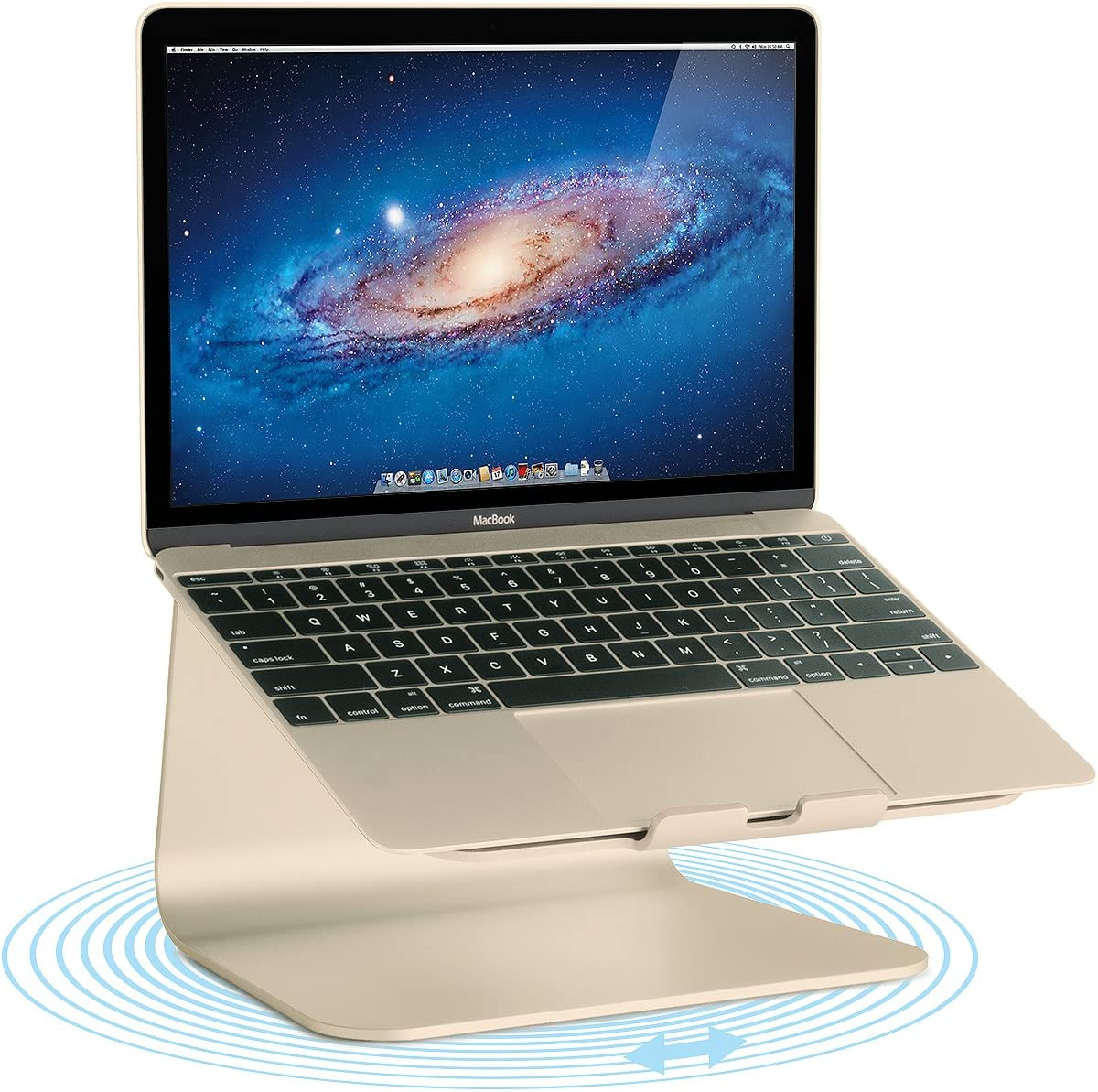 Rain Design mStand360 Laptop Stand with Swivel Base, Gold