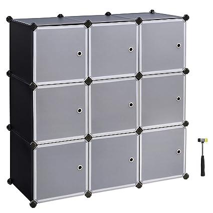Charmant SONGMICS Cube Storage,Plastic Cube Organizer,DIY Modular Closet  Cabinet,Bookcase,with