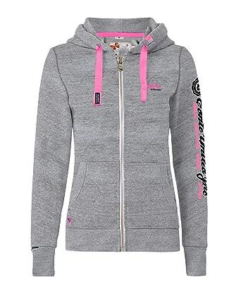 3f9609c106 M.Conte Rachel Damen Hooded Sweater Sweat-Shirt-Jacke S M L XL Weiss Blau