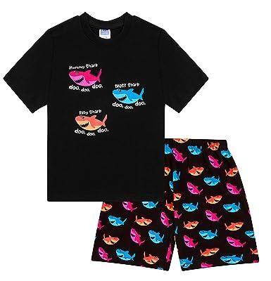 92c5b4b10 Baby Shark Daddy Shark Mummy Shark Short Pyjamas (3-4 Years)  Amazon ...