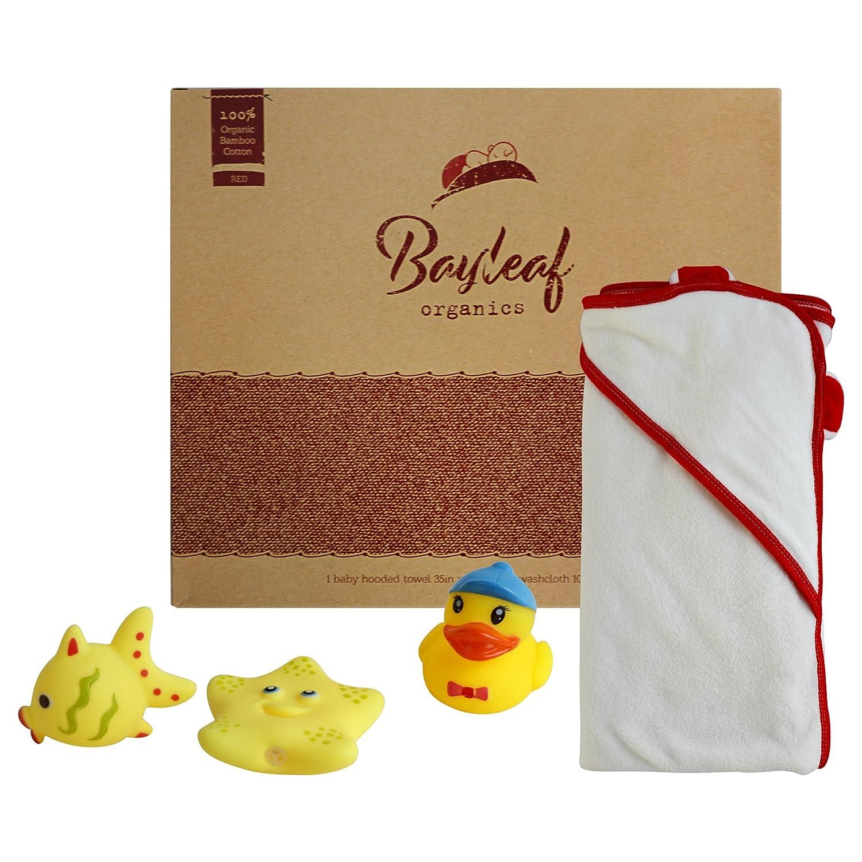 Amazon.com : Bayleaf Organics Hooded Baby Towel and Washcloth Set ...