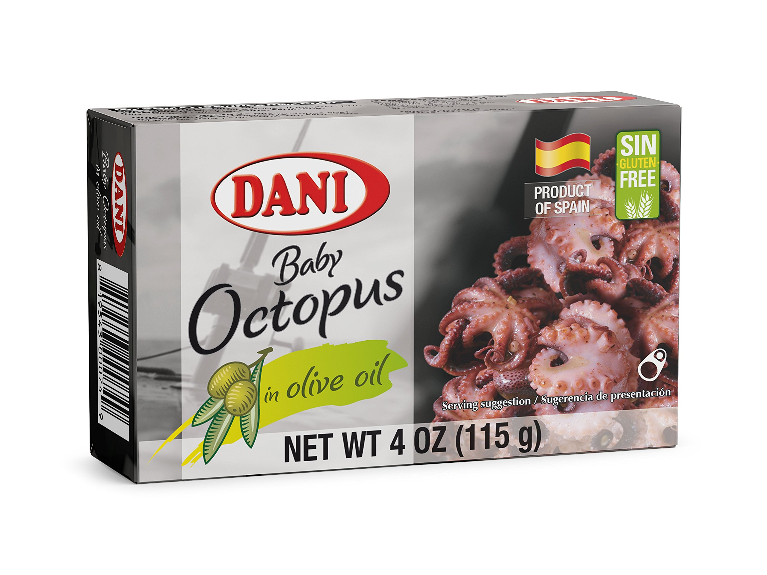 Dani Baby Octopus (Pulpitos) in Olive Oil, can of 4 oz (115 gr)
