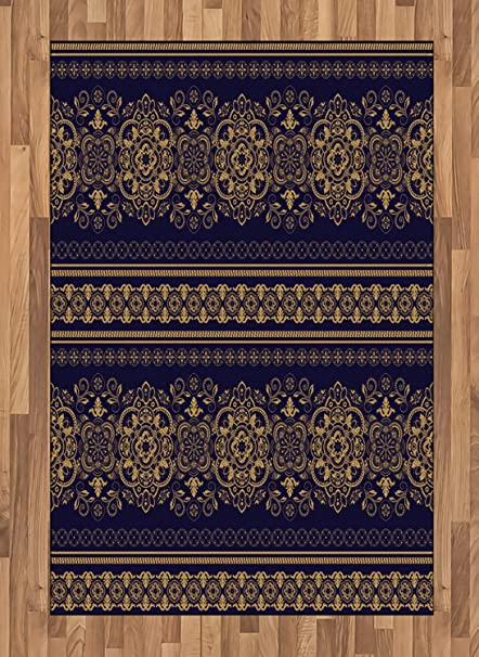 Amazon Com Ambesonne Turkish Pattern Area Rug Damask Style