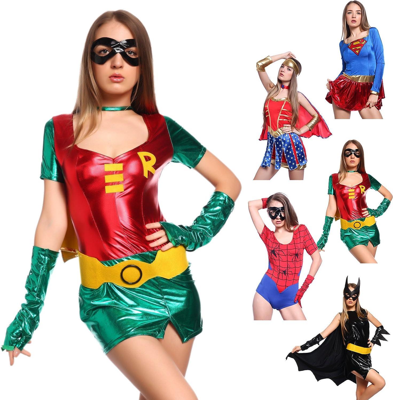 Wunderbarwahl Disfraz de heroína sexy: Amazon.es: Juguetes y juegos