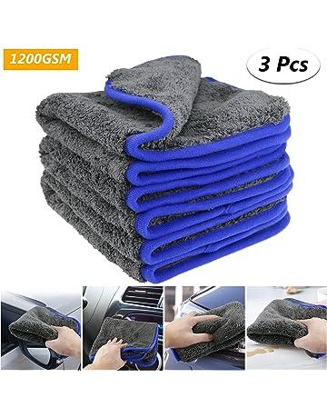 fixget am0032 1200 GSM 3pcs microfibra secado toalla Limpieza detalle lierung Cocina paños de limpieza Cera