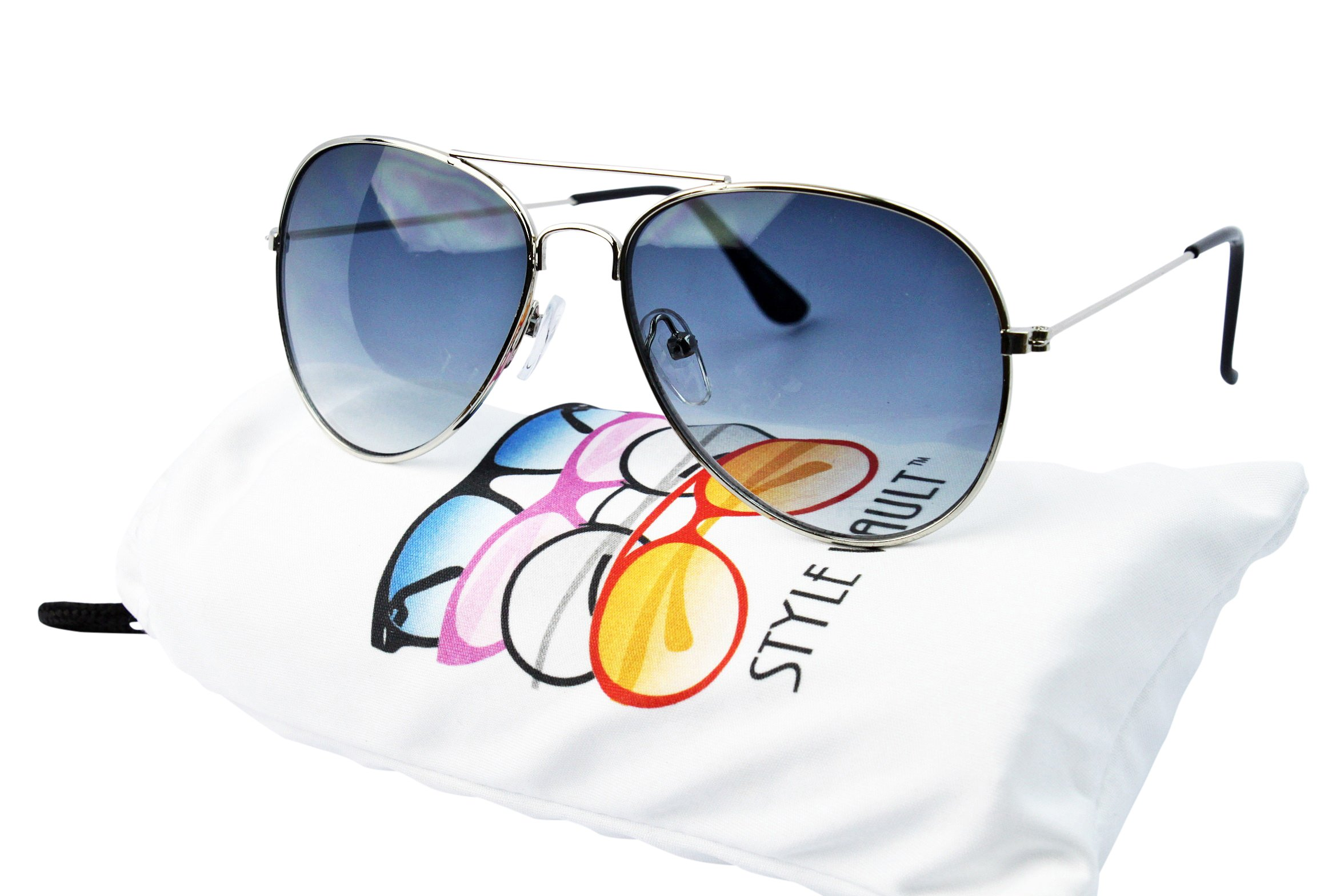 Kd202-vp Style Vault() Kids Child(2~9yr Old) Aviator Sunglasses (B3099F Silver-smoked) by Style Vault
