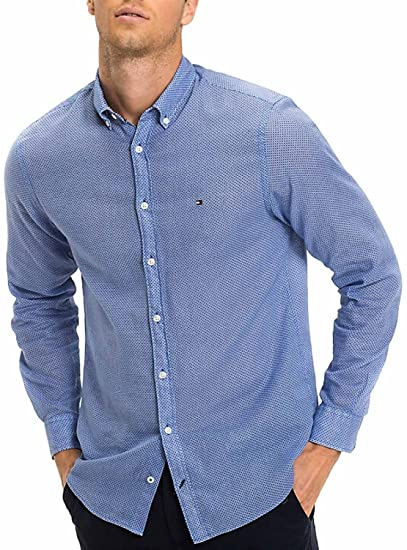 a8d94b5b Tommy Hilfiger Men's Casual Shirt: Amazon.co.uk: Clothing