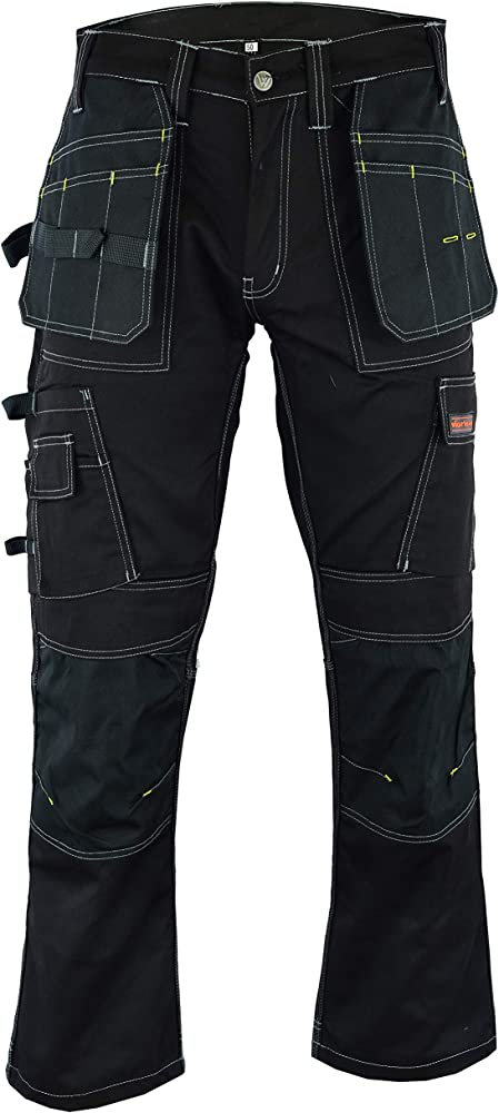 Safety Knee Pad Like Apache Wright Wears Men Work Cargo Combat Trouser Black Site Heavy Duty Multi Pockets Cargo Work Pants