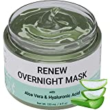 Renew Overnight Sleeping Facial Mask by Doppeltree with Aloe Vera & Hyaluronic Acid - Hydrating Face Mask for Night Time Skin