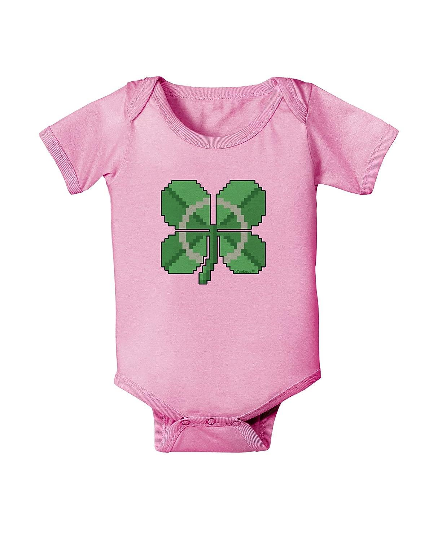 TooLoud Pixel Four Leaf Clover Baby Romper Bodysuit