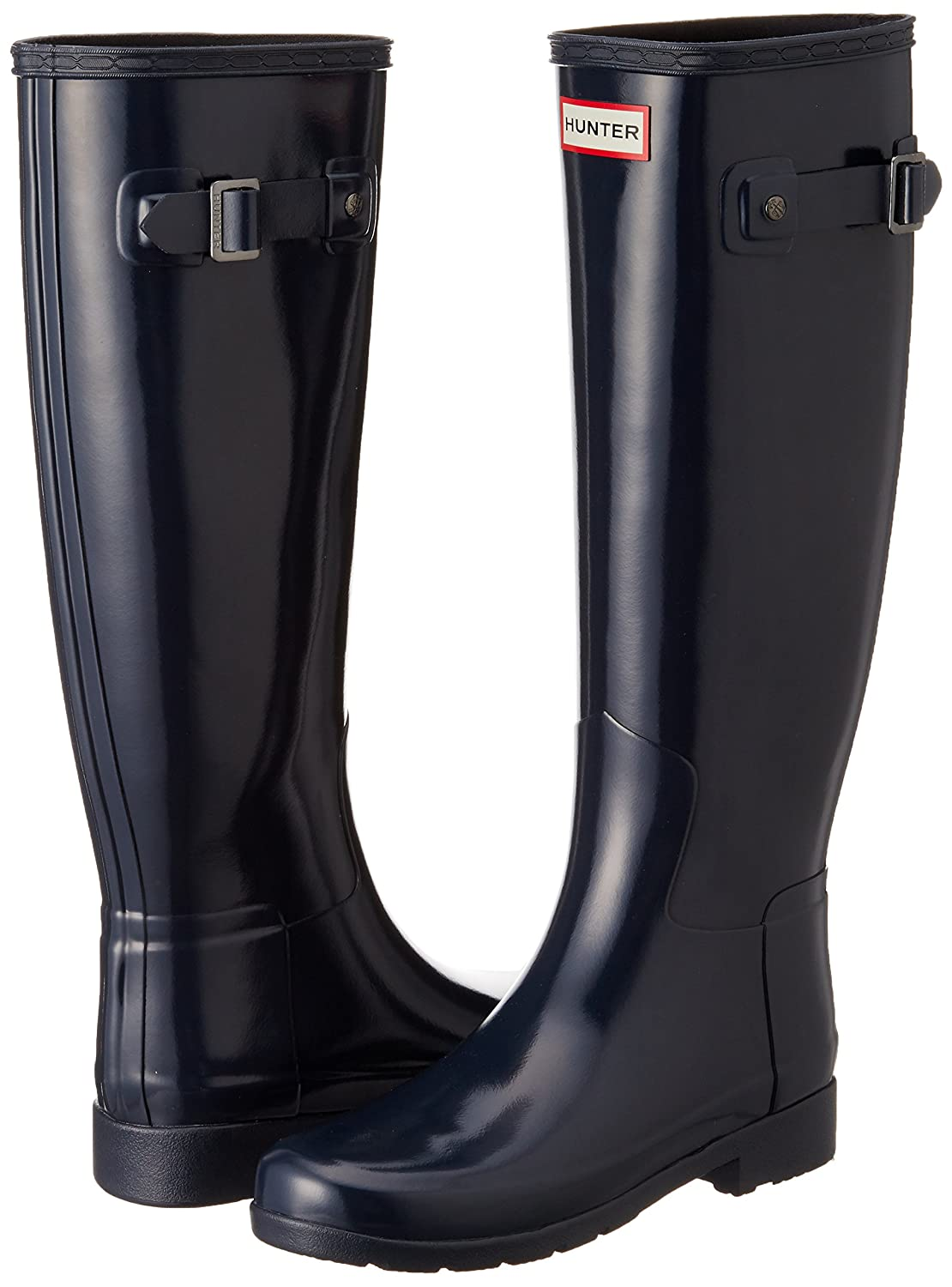 Hunter Womens Original Tall Refined Gloss B015RCM9P4 6 B(M) US|Navy
