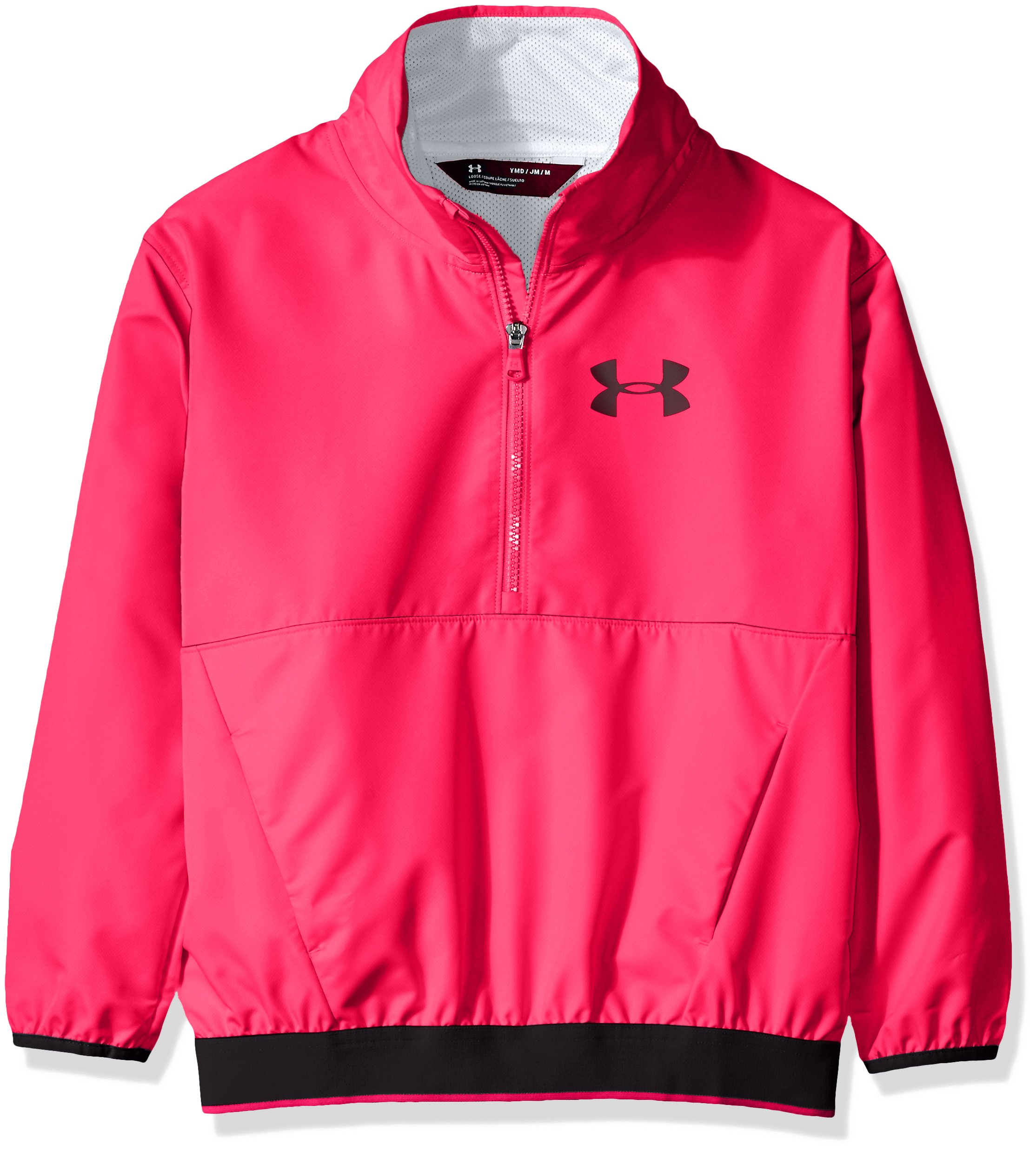 Under Armour Girls' Boat House Jacket, Penta Pink (975)/Black, Youth Medium by Under Armour