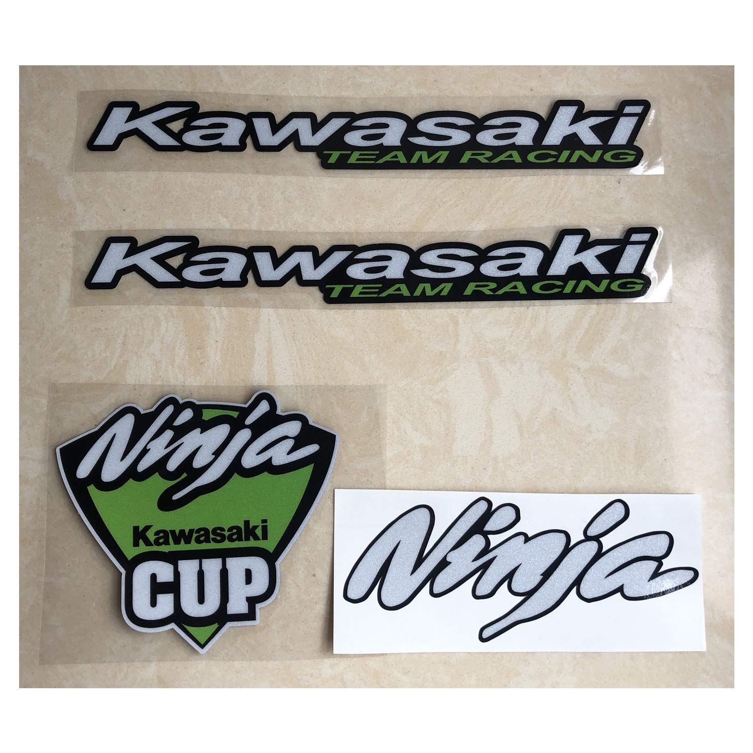 LLAP Stickers for Kawasaki Ninja Decals Vinyl Gas Tank Helmet Decals for Ninja ZX14 ZX12 ZX10 ZX9 ZX7 ZX6 R 250R 300(4packs)