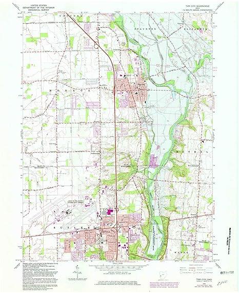 Amazon Com Yellowmaps Tipp City Oh Topo Map 1 24000 Scale