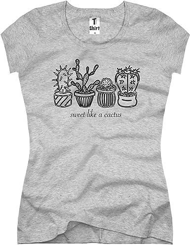 TEE Shirt, Damen T Shirt mit Aufdruck Coole Motive. T Shirt mit Kaktus, Spruch Druck.