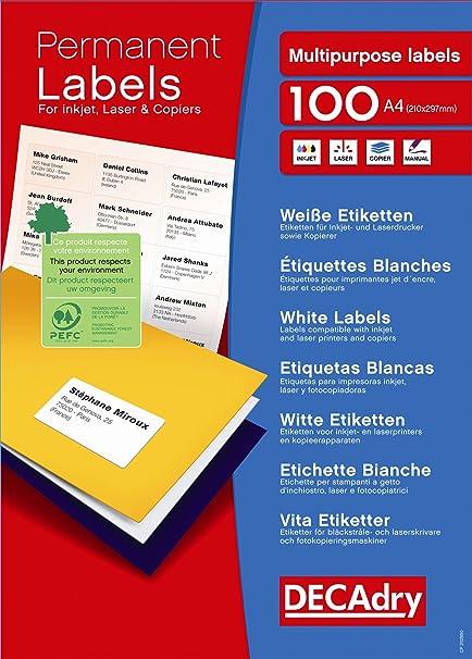 DECAdry - Etiquetas autoadhesivas (6500 unidades), color ...