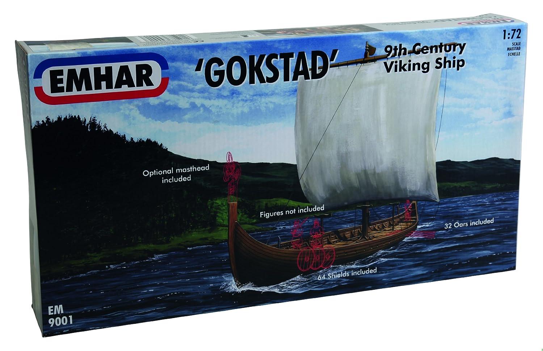 Emhar 9001 Gokstad 9th Century Viking Ship 1:72 Plastic Kit EM9001 PGHEM9001